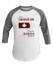 CANADIAN GIRL LIVING IN KANSAS WORLD Baseball Tee thumbnail