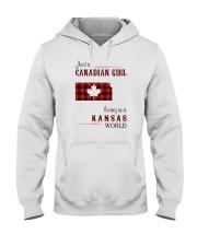 CANADIAN GIRL LIVING IN KANSAS WORLD Hooded Sweatshirt thumbnail