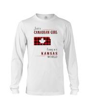 CANADIAN GIRL LIVING IN KANSAS WORLD Long Sleeve Tee thumbnail