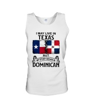 LIVE IN TEXAS BEGAN IN DOMINICAN Unisex Tank thumbnail