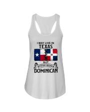 LIVE IN TEXAS BEGAN IN DOMINICAN Ladies Flowy Tank thumbnail