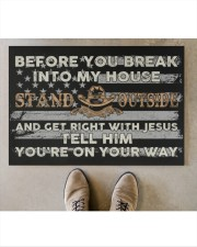 "Before you break into my house Stand Outside and Doormat 34"" x 23"" aos-doormat-34-x-23-lifestyle-front-04"