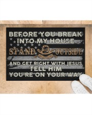 "Before you break into my house Stand Outside and Doormat 34"" x 23"" aos-doormat-34-x-23-lifestyle-front-05"