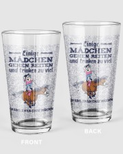 Some Girls Go Riding And Drink Too Much 16oz Pint Glass thumbnail