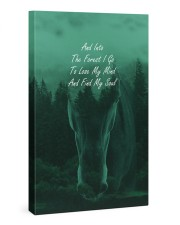 And Into The Forest I Go  Gallery Wrapped Canvas Prints tile