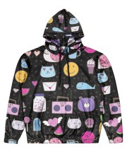 All over lovely cat fish radio design Men's All Over Print Hoodie thumbnail