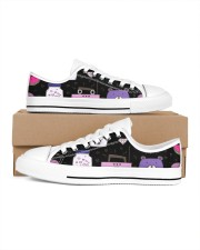 All over lovely cat fish radio design Men's Low Top White Shoes thumbnail