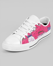 All over lovely cat fish radio design Men's Low Top White Shoes aos-men-low-top-shoes-ghosted-white-outside-left-02