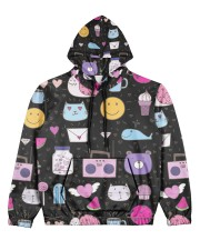 All over lovely cat fish radio design Women's All Over Print Hoodie thumbnail