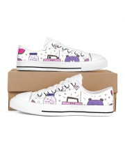 All over lovely cat fish radio design Women's Low Top White Shoes thumbnail