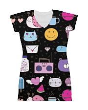 All over lovely cat fish radio design All-over Dress thumbnail