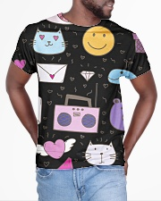 All over lovely cat fish radio design All-over T-Shirt aos-all-over-T-shirt-lifestyle-front-04