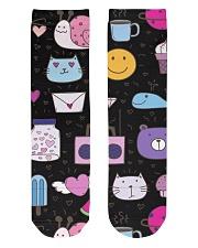 All over lovely cat fish radio design Crew Length Socks thumbnail