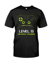 Teenager 13th Birthday design Level 13 Unlocked Premium Fit Mens Tee thumbnail