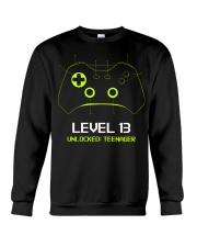 Teenager 13th Birthday design Level 13 Unlocked Crewneck Sweatshirt thumbnail