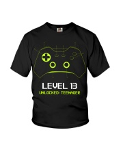 Teenager 13th Birthday design Level 13 Unlocked Youth T-Shirt thumbnail