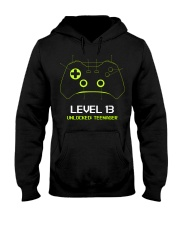 Teenager 13th Birthday design Level 13 Unlocked Hooded Sweatshirt thumbnail