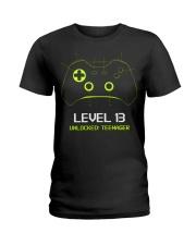 Teenager 13th Birthday design Level 13 Unlocked Ladies T-Shirt thumbnail