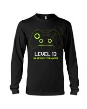 Teenager 13th Birthday design Level 13 Unlocked Long Sleeve Tee thumbnail