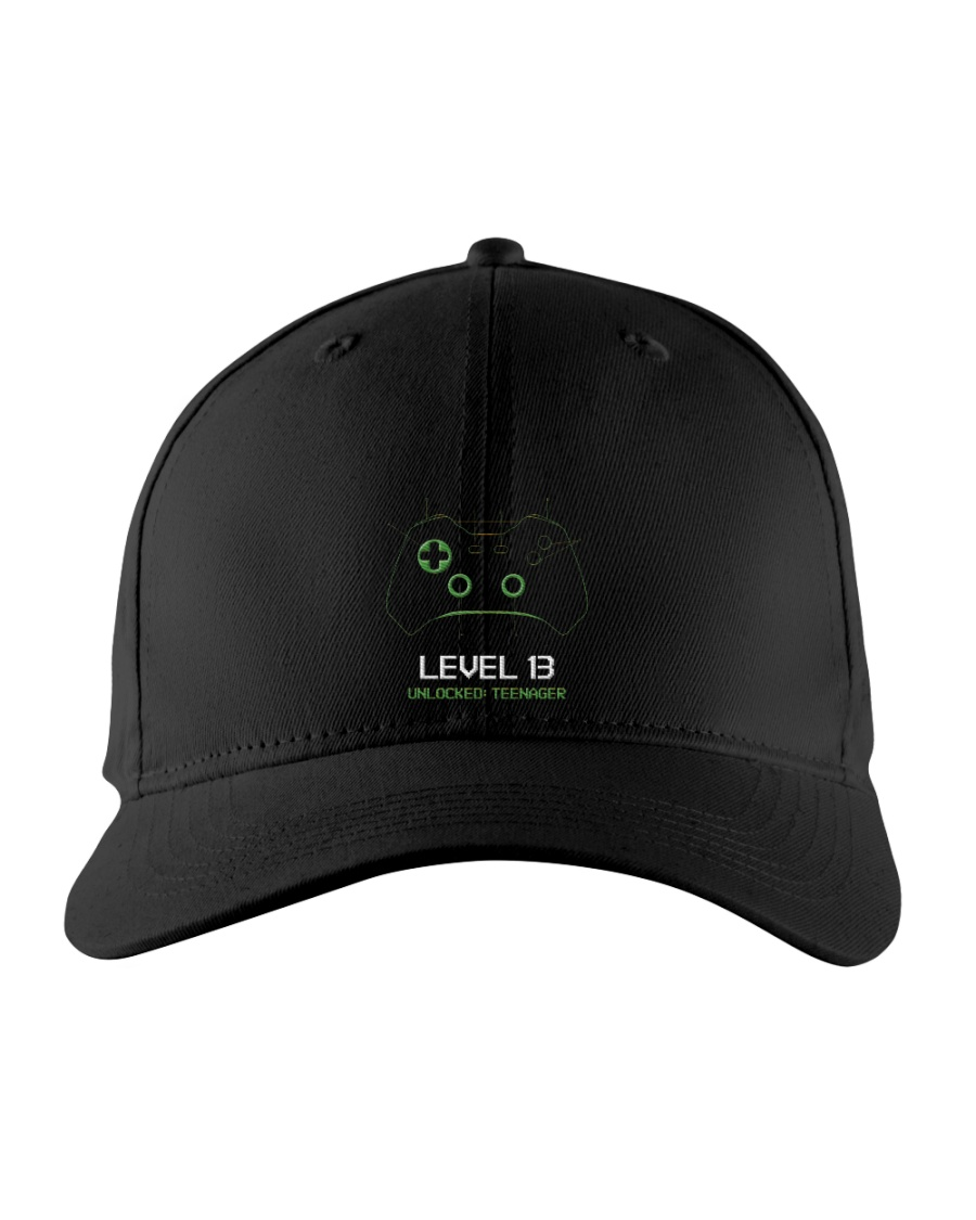 Teenager 13th Birthday design Level 13 Unlocked Embroidered Hat