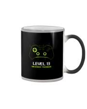 Teenager 13th Birthday design Level 13 Unlocked Color Changing Mug thumbnail