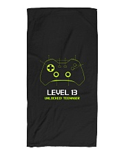 Teenager 13th Birthday design Level 13 Unlocked Beach Towel thumbnail
