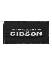 L25-Gibson Cloth face mask front