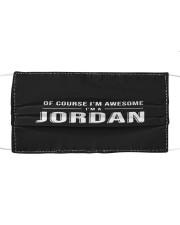 L25-Jordan Cloth face mask front