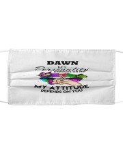 F63-Dawn Cloth face mask front