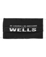 L25-Wells Cloth face mask front