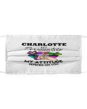 F63-Charlotte Cloth face mask front