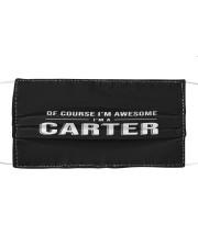 L25-Carter Cloth face mask front