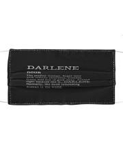 F71-Darlene Cloth face mask front