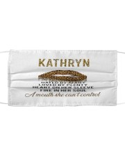 F64-Kathryn Cloth face mask front