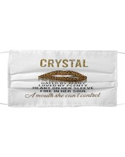 F64-Crystal Cloth face mask front