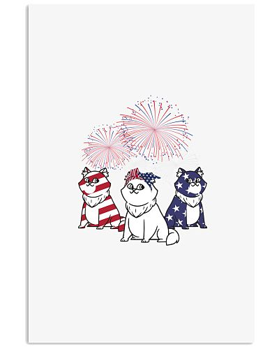USA Patriotic Cats Happy 4th of July