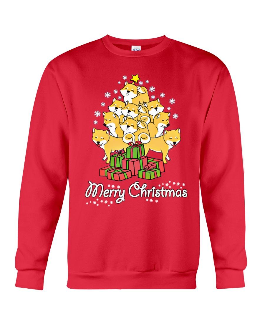 Shiba Xmas Tree Crewneck Sweatshirt