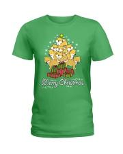 Shiba Xmas Tree Ladies T-Shirt thumbnail