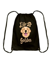 Golden Retriever Drawstring Bag tile
