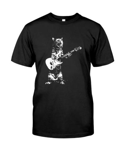 guitar and cat