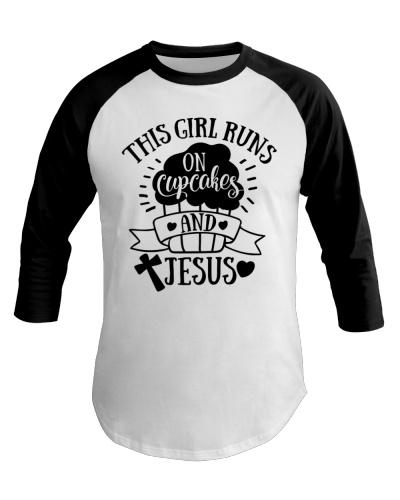 Girl runs on cupcakes