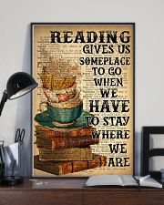 Reading Book and Tea 24x36 Poster lifestyle-poster-2