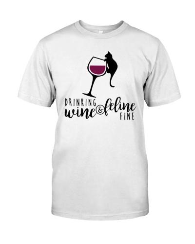 wine and feline
