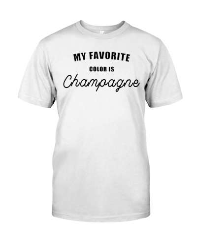 Favorite color is champagne