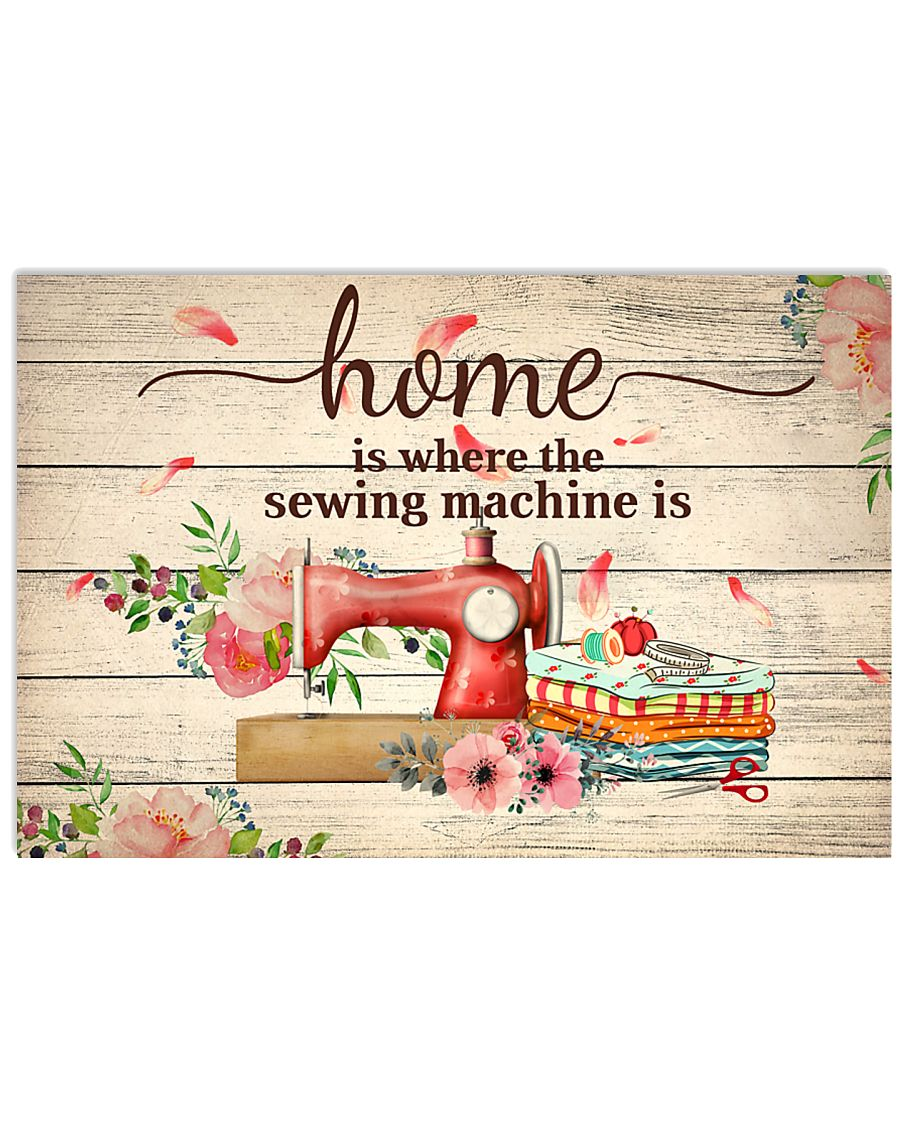 sewing machine poster 17x11 Poster