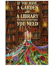 Girl Love Library 24x36 Poster front