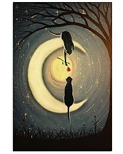 Couple Cat Moon 24x36 Poster front