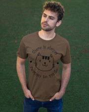 Smile Cat Classic T-Shirt apparel-classic-tshirt-lifestyle-front-43