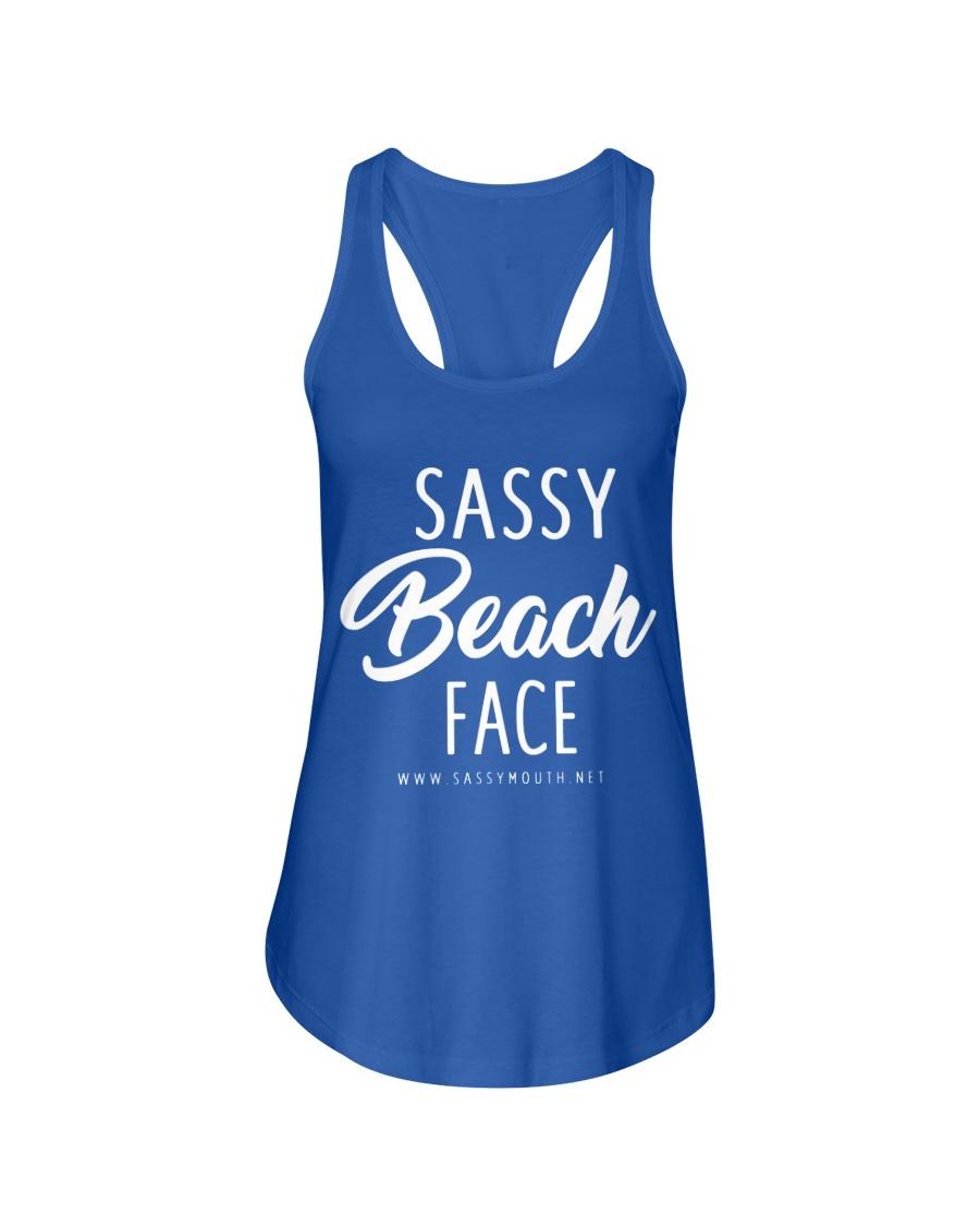 Sassy Beach Face Ladies Flowy Tank