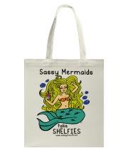 Sassy Mermaids Take Shelfies - Blonde Tote Bag thumbnail